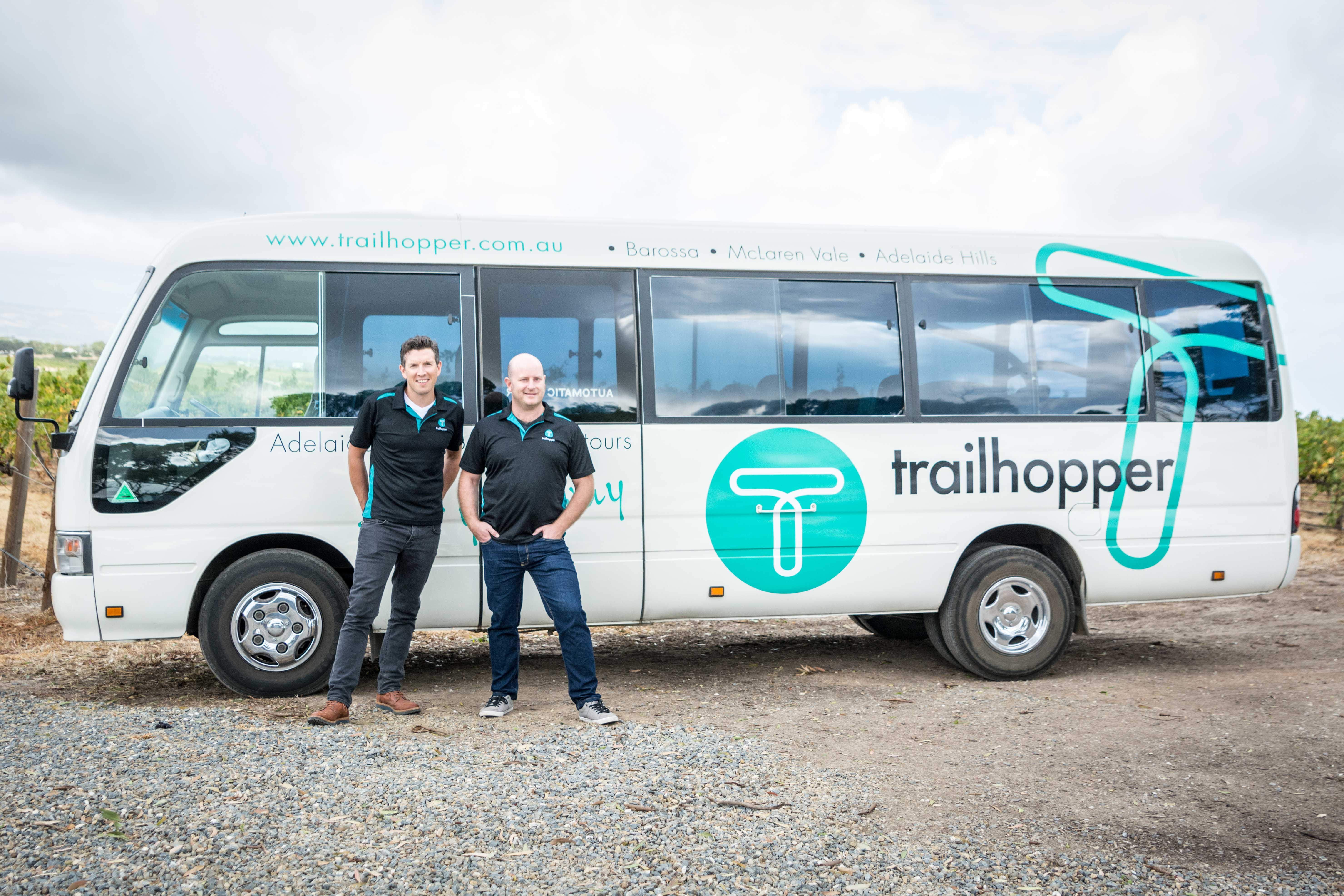 Trailhopper bus for wine tours to Barossa, McLaren Vale and Adelaide Hills
